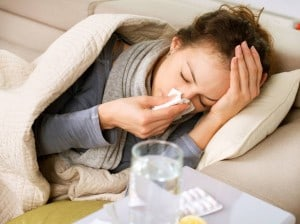 rhume-femme